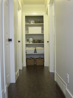 love the hallway and the open closet