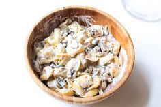 Tortelini with creamy mushroomsauce