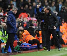 Ecstatic! one of the Boss' finest moments, beating Man City at Anfield.
