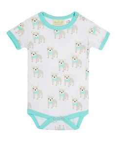 This fun short sleeve bodysuit is exclusively designed by Sapling, an Australian company specialising in 100% organic cotton children's wear. El Perro. Made from super soft, high quality, double jersey. 100% GOTS certified organic cotton. Printed with 100% GOTS approved water based dyes that are free from toxic chemicals and heavy metals. Snap buttons at the neck and crotch for easy changing. Pair with organic pants for a little extra warmth.