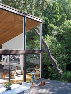 Woonkamer boven + terras