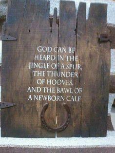 God can be heard...