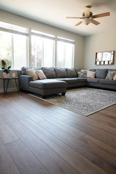 Provenza Vinyl Flooring Review - Cutesy Crafts Beautiful Flooring, Living Room Flooring, Luxury Vinyl Plank Flooring, Vinyl Flooring, Vinyl Wood Flooring, Living Room Vinyl, Flooring Options, Floor Design, House Flooring