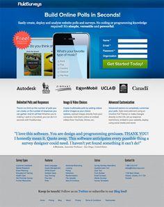 Landing Page Examples : FluidSurveys