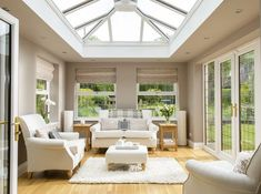 Designing your conservatory's interior can be quite tough, so here are some great and popular interior design themes to get you inspired! Orangerie Extension, Extension Veranda, Conservatory Extension, Orangery Extension Kitchen, Conservatory Interiors, Conservatory Design, Conservatory Ideas Interior Decor, Garden Room Extensions, House Extensions