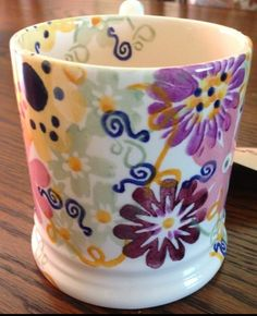 Collectors Day 2013 - Flower Power Pint Mug (Special) Pottery Cafe, Emma Bridgewater Pottery, Emma Love, The Collector, Flower Power, Mugs, Tableware, Day, How To Make