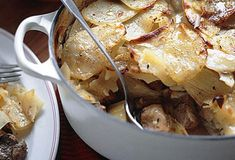 The top ten heartiest French winter dishes - The Local   [www.gourmettraveller.com.au]  http://www.gourmettraveller.com.au/recipes/recipe-search/feature-recipe/2007/9/baeckeoffe/  The Alsace region bordering Germany is famous for rich dishes. Backoeffe is a type of stew with cubes of mutton, beef and pork which are marinated overnight and then slow-cooked with vegetables in a casserole.  Click here for recipe