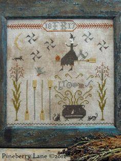 Fancey Blackett's Brooms - Cross Stitch Pattern  by Pineberry Lane