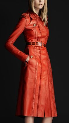 Burberry Prorsum brogue leather trench coat