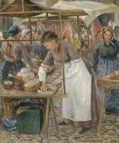 Camille Pissarro (Caribbean-born French Impressionist Pointillist Painter, c The Pork Butcher 1883 Claude Monet, French Impressionist Painters, Impressionist Artists, Pierre Auguste Renoir, Manet, Paul Gauguin, Camille Pissarro Paintings, Mary Cassatt, Post Impressionism
