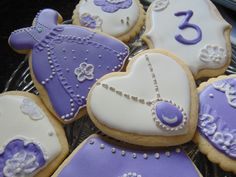 Sofia the First Sugar Cookies by TreatsbuyTerri on Etsy