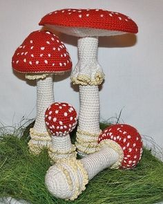 Mushroom crochet pattern Toadstool Fly Agaric by CAROcreated