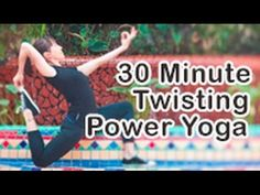 30 Min Yoga flow with twists for detox, cardio, fitness and weight loss with Michelle Goldstein