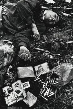 Body of a North Vietnamese soldier, Hue, Vietnam, 1968 -Photo by Don McCullin