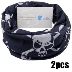Shells 2PCS Blask Skull Pattern Polyester Microfiber Outdoor Sport Magic Multifunction No Seam Headscarf Headwear Face Mask Neck Warmer For Motorcycle Bike Ski Outdoor activities