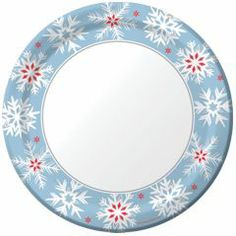 Nordic Snow 9'' Plates from Windy City Novelties