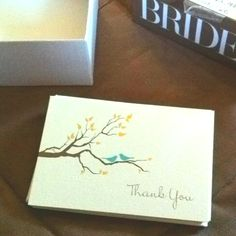 Thank-you notes from Michael's BRIDES collection