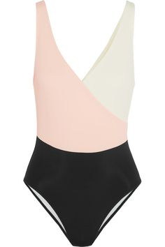 Sold and Striped The Ballerina color-block swimsuit