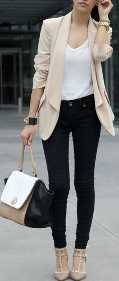 Casual blazer outfit for women (92)