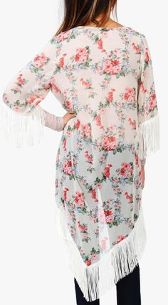 Boho floral kimono - Love Kimonos as a replacement for light cardigan  sweaters for the Spring! 66f3c78c28