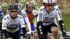 Mark Cavendish (left) won two stages on the 2011 Tour of Britain, while Bradley Wiggins (right) rode the Vuelta a Espana
