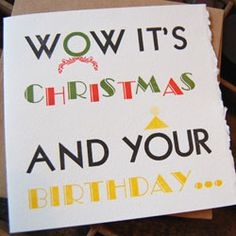 I know a few Capricorns who have a problem with the timing of Christmas...maybe this card will make them feel better.