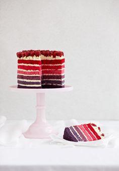 Striped cake. Kashaya & Co http://www.kashaya.com.au/