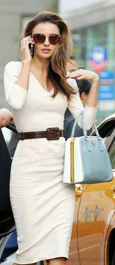 Miranda Kerr. Prada bag.