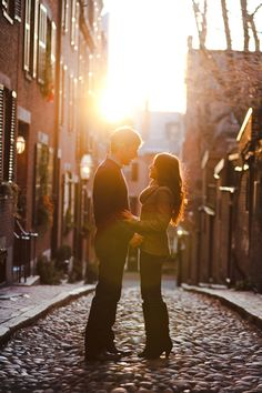 Dream Engagement Photo location: The sunlight and setting are gorgeous, plus I like their outfits