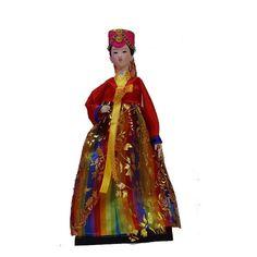Vintage Korea Art Doll Hanbok Home Desk/showcase Artistic Decoration artwork