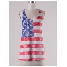 """American Pride"" Red White and Blue Sublimation Tank Top - Cheryl's Galore and More - 1"