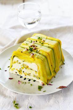 P'tite terrine fraîcheur au fromage de cabrette et aux courgettes parfumées...