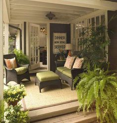 Fabulous inspiration for our covered patio area!