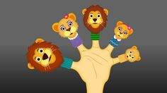 The Finger Family Lion Family Nursery Rhyme Finger Family Rhymes, Family Songs, Kids Nursery Rhymes, Rhymes For Kids, Abc Songs, Kids Songs, Finger Family Collection, Lion Family, Phonics Song