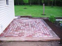 perfect brick patio patterns brick patio basket weave pattern ... - Patio Brick Designs