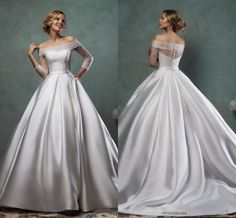 Wholesale wedding dresses london, wedding dresses under 100 and weddingdresses on DHgate.com are fashion and cheap. The well-made sliver satin a line off-shoulder wedding dress with sheer long sleeve covered back button chapel train wedding gowns sold by shangshangxi is waiting for your attention.