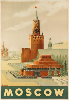 Sergei Sakharov (1906-1969) MOSCOW. Circa 1930s. Intourist, USSR.