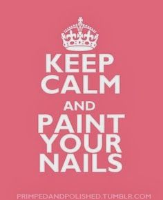 Painting my nails calms me lol