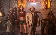 """Jumanji: The Next Level"""" will take actors Dwayne Johnson, Kevin Hart, Karen Gillan and Jack Black back into the jungle for yet another adventurous and chaotic ride. The trailer of the film gives a glimpse of the next level of the game. Men In Black, Jack Black, Danny Glover, Danny Devito, Kevin Hart, Dwayne Johnson, Naomi Scott, Karen Gillan, Robin Williams"""