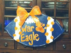 Auburn War Eagle Hand Painted Wood Football by SouthernFlavorSigns, $24.00