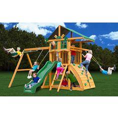Gorilla Playsets Encore Cedar Wooden Swing Set