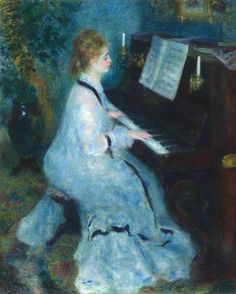 Woman at the Piano (1875-1876)  Pierr-Auguste Renoir (French)  Oil on Canvas  Art Institute of Chicago