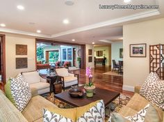 Beautiful wood floors in this living room