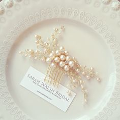 Blush Hairpiece Bridal Hair Comb Blush Bridal by SarahWalshBridal, $140.00