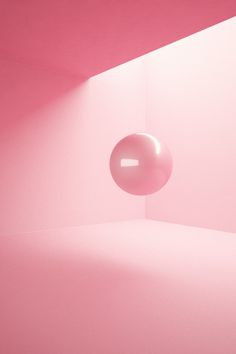 Pink room and ball.