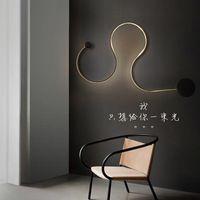 post-modern Scandinavian modern minimalist creative wall lamp led bedside lamp bedroom lamp aisle corridor hotel light