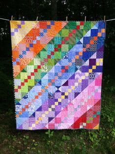 Quilt along with Sewn by Leila Bright Quilts, Colorful Quilts, Lap Quilts, Scrappy Quilts, Jellyroll Quilts, Lattice Quilt, Rainbow Quilt, Rainbow Blocks, History Of Quilting