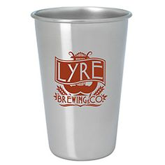 46066 - Stainless Pint Glass - 16 oz. is a great gift for wedding guests! #promoproducts #wedding