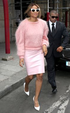 Ciara in a Doriane Van Overeem shirt, Topshop skirt, Miu Miu sunglasses, Gianvito Rossi shoes Photo: CHP/Fameflynet Pictures Vote for your favorite best dressed woman of the week.