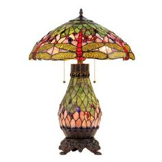 Chloe Lighting CH31041DG18-DT4 Anisoptera Purity Dragonfly 4 Light Double Lit Table Lamp This Chloe Lighting 4 Light Double Lit Table Lamp is offered in